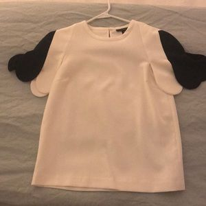 Winter white and black top!!